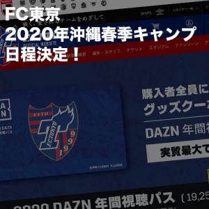 FC東京2020年沖縄春季キャンプ日程